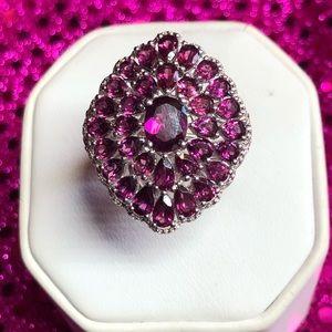 Gorgeous Rhodalite Garnet Sterling Silver Ring